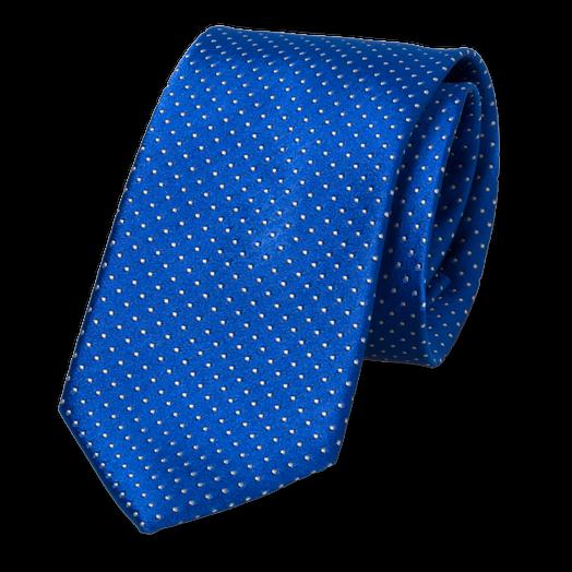 Cravate bleu roi à pois blancs | mode à petit prix