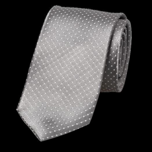 8435ba310b3cc Cravate grise à pois blancs | E-Shop, mode à petit prix