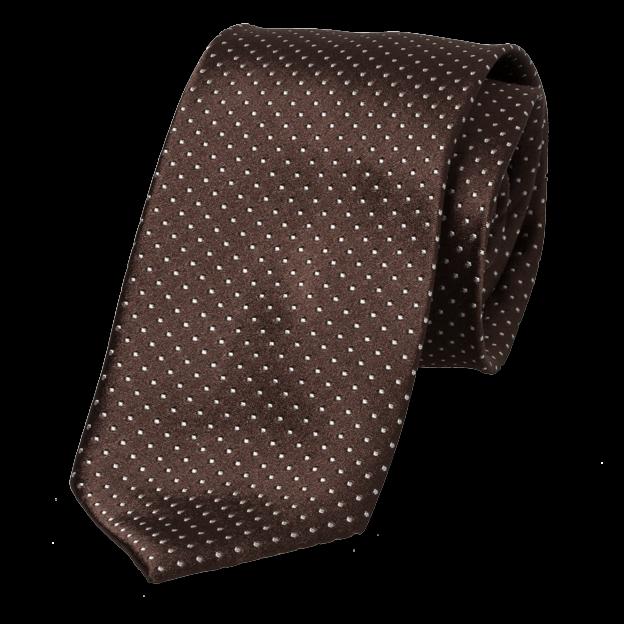 95e517f72708d Cravate marron à pois blancs | mode à petit prix