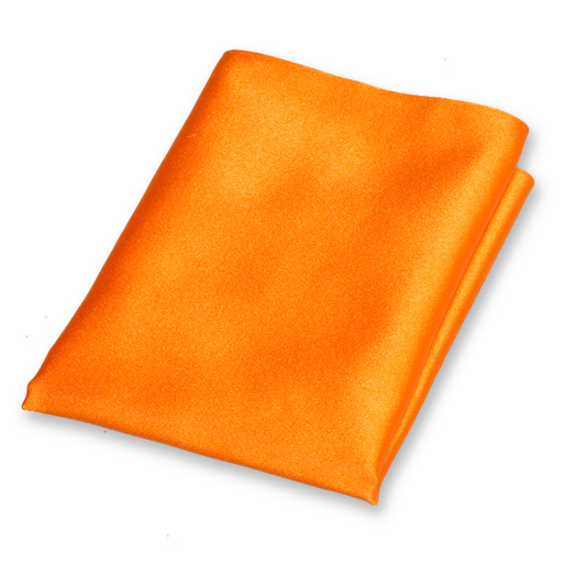 Pochette Orange - Satin de Soie (1)
