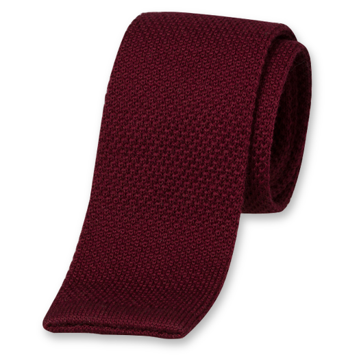Cravate Tricot Rouge Bordeaux - Laine (1)