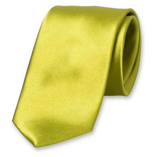 Cravate Lime - Satin de Soie (1)
