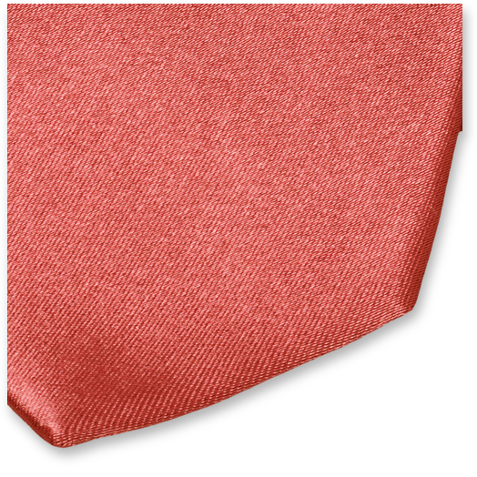 Cravate Corail - Satin de Soie (2)