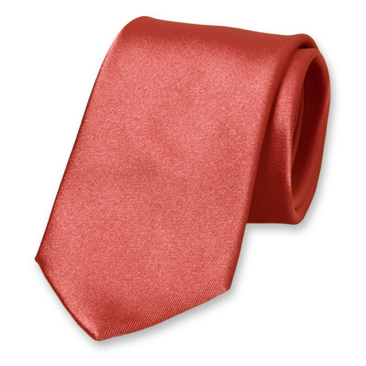 Cravate Corail - Satin de Soie (1)