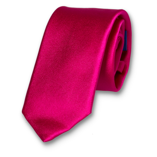 Cravate Fuchsia - Satin de Soie (1)
