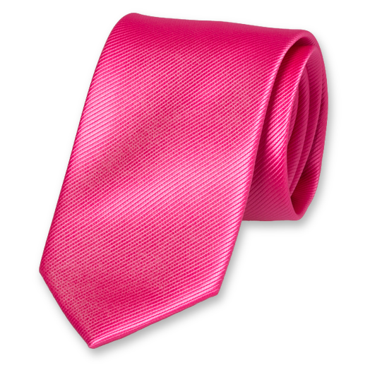 Cravate Rose Vif en Polyester (1)