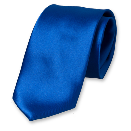 Cravate Bleu Cobalt en Satin Polyester (1)