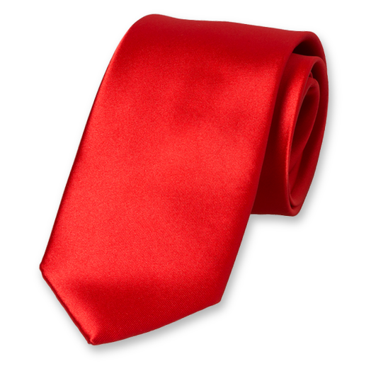 Cravate Rouge en Satin Polyester (1)