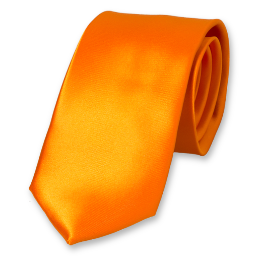 Cravate Orange en Polyester Satin (1)