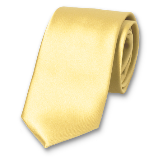 Cravate Jaune Pale - Polyester (1)