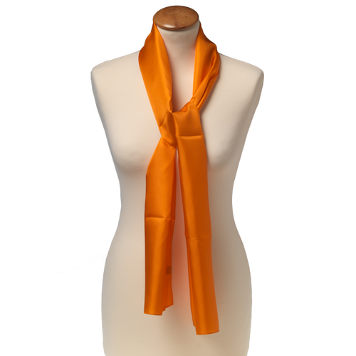Foulard Orange - Soie - 25 x 160 cm (1)