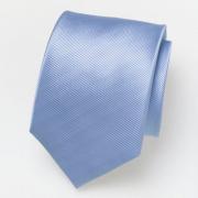 Cravate en soie bleu clair