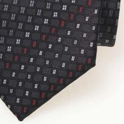 cravate noire rouge grise motif fantaisie tiss cravates shop. Black Bedroom Furniture Sets. Home Design Ideas