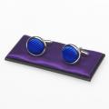 boutons de manchette bleu royal