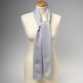 Foulard en polyester gris