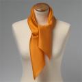 Foulard en soie orange