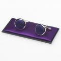Boutons de manchette violet foncé