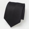 Cravate en soie noire
