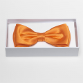 Noeud papillon orange - 100% soie